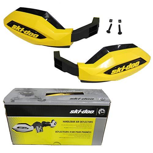 Ski-Doo OEM Hand Guard Handlebar Wind Deflectors Kit - Yellow 860200710
