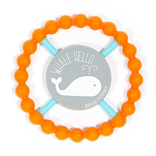 Bella Tunno Whale Hello Happy Teether, Orange