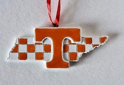 (Oxbay Tennessee Volunteers State MAP Checkerboard Resin Ornament 4
