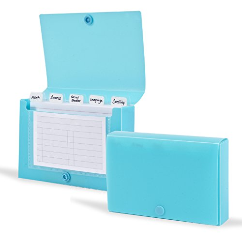 DocIt Index Card Holder 3x5 for Storing Recipe Cards, School