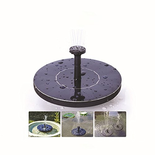 Zehui For Garden Pool Pond Patio Outdoor Watering Submersible Pump Free Standing Water Pumps with 1.4W Solar Panel Solar Bird bath Fountain - Tower Shops Place Water