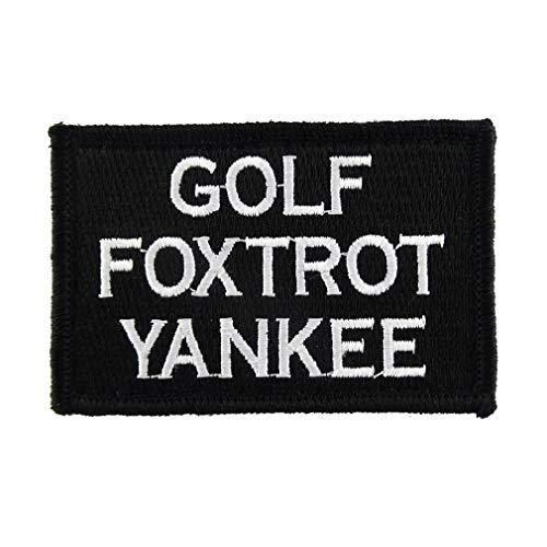 ShowPlus Golf Foxtrot Yankee Patch Tactical Morale Embroidered Patch (Golf Foxtrot Yankee Patch)