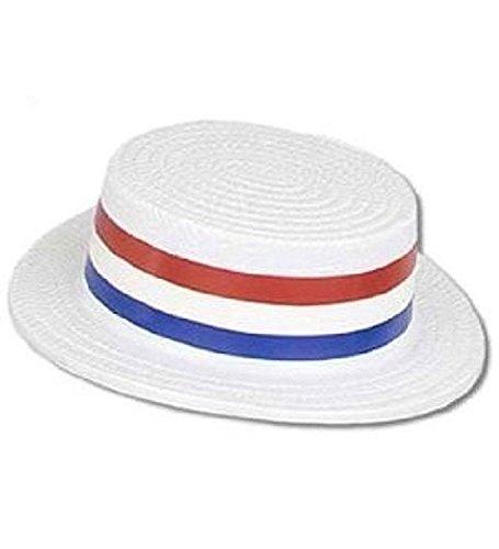 (Patriotic Plastic Skimmer Hat)