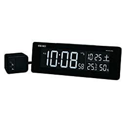 Seiko CLOCK clock exchange type color LCD digital radio alarm clock (black) DL205K