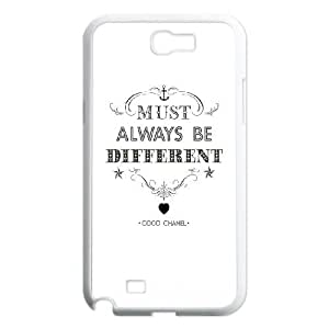 Samsung Galaxy N2 7100 Cell Phone Case White must always be different A4M0OC