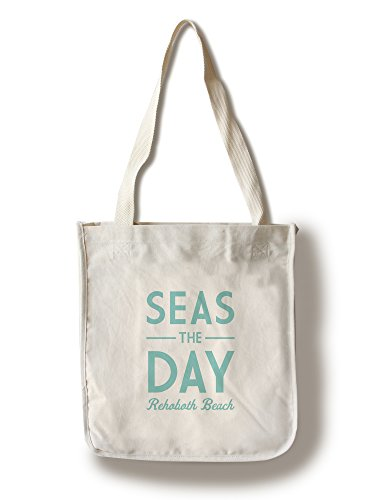 Rehoboth Beach, Delaware - Seas The Day - Simply Said (100% Cotton Tote Bag - - Beach Shopping Rehoboth