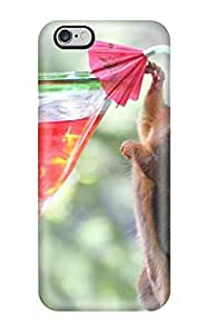 AnnaSanders FGvkGlt828dqPnZ Case For Iphone 6 Plus With Nice Drinking Cocktail Red Drink Alcoholic Squirrel Animal Other Appearance
