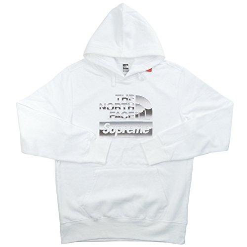 SUPREME シュプリーム ×THE NORTH FACE 18SS Metallic Logo Hooded Sweatshirt パーカー 白 M 並行輸入品 B07DMV7BTC