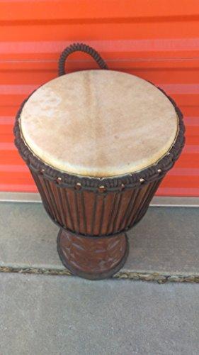"SALE, Large 24"" Djembe Deep Carved Hand Drum Bongo Tribal"