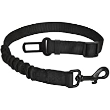 Pet Dog Seat Belt with Bungee Heavy Duty Nylon Leash Adjustable Safety Seatbelt Vehicle Car Restrain Harness Strap