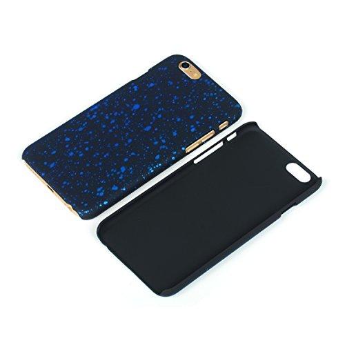 König-Shop Handy Hülle Schutz Case Bumper Schale für Apple iPhone 6 3D Sterne Blau