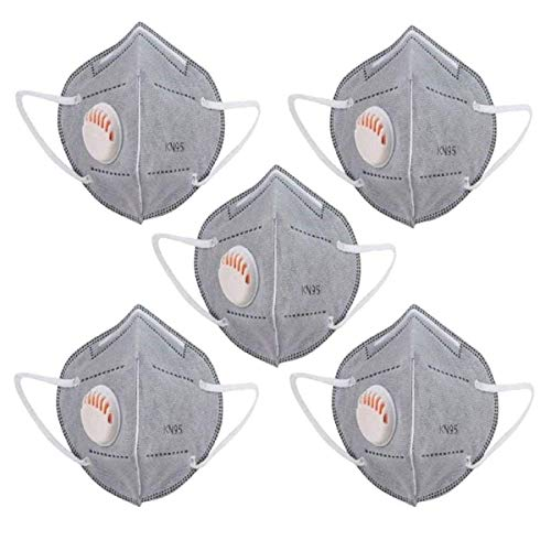 TrendzOn K-N95 Masks With Respirator Reusable & Washable Mask,Certified Special Safety Face Mask, Anti-Bacterial with Five Protective Layers,Pack Of 5 – Grey Color Price & Reviews