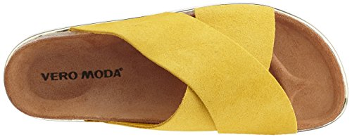 Vero Moda Women's Vmlisa Leather Sandals Yellow (Celery) cheap sale low shipping fee free shipping for nice tumblr browse sale online mP9ewee