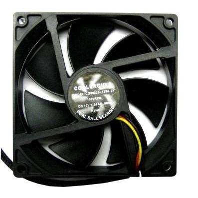Coolerguys Dual Ball Bearing 12v 3pin Fan (92x25mm, Low Speed)