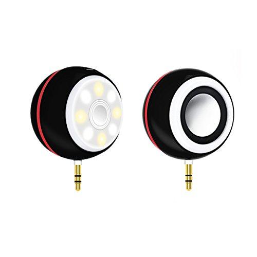 Zoweetek Selfie Spotlight Portable Mini Speaker with 3.5mm AUX Audio Port (Black)