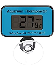 Digital Aquarium Thermometer with Suction Cup, DDSKY Waterproof Submersible Temperature Gauge LCD Digital Fish Tank Thermometer