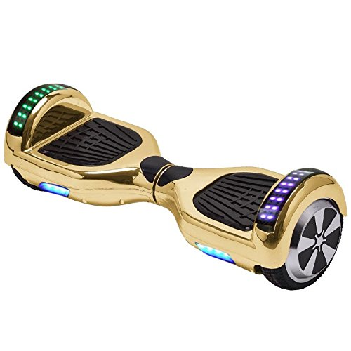 6.5' UL2272 Certified Smart Self Balancing Hoverboard Personal Adult & Kids Transporter with LED Light (Gold)