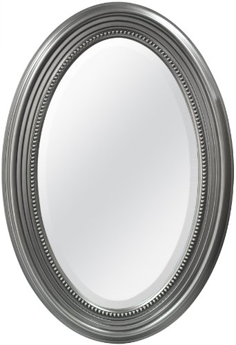 MCS Beaded Oval Wall Mirror, 21 x 31 Inch, -