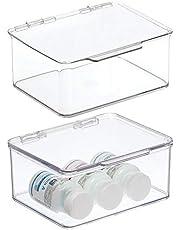 mDesign make-updoos met deksel – transparante opbergbox voor het hele huishouden – veelzijdige opslagbox voor elke ruimte in het huis