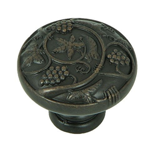Stone Mill Hardware CP3079-OB Oil Rubbed Bronze Vineyard Harvest Cabinet Knob,