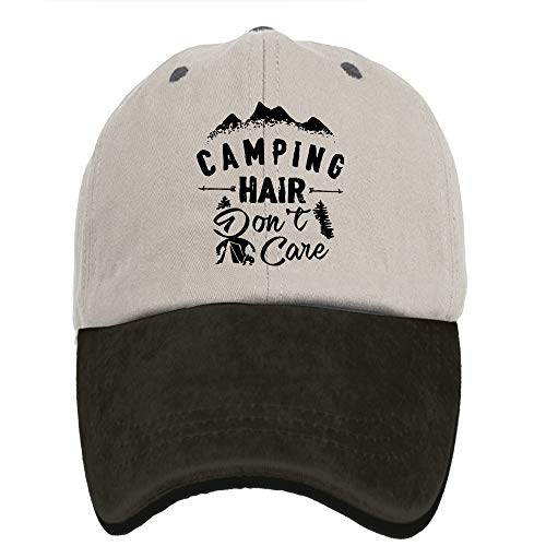 MANMESH HATT Camping Hair Don t Care Washed Dyed Cotton Adjustable Denim Hat  Trucker Cap 10758e252d1f