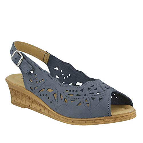 Spring Step Women's Orella Slingback Sandal,Blue,38 EU/7.5 - 8 M US ()