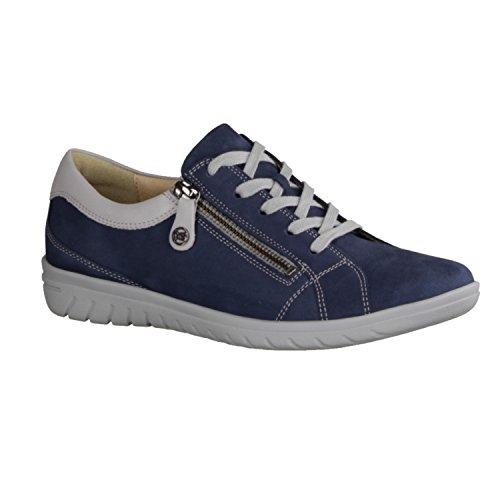 de para Zapatos Piel Cordones 4819 de 82562 Azul Mujer Hartjes qwagntx7q