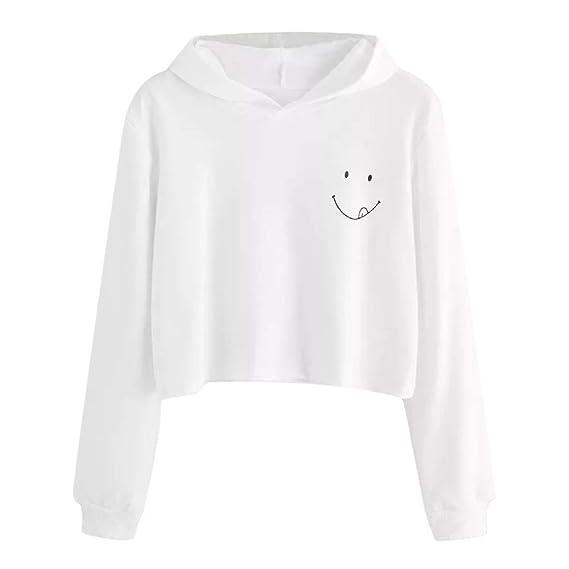 Weant Pullover Lange Ärmel Jugendlich Mädchen Pullover Crop