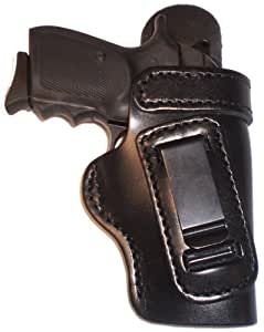 Ruger LC9 With Lasermax Laser Heavy Duty Black Right Hand Inside The Waistband Concealed Carry Gun Holster With Forward Cant and Slide Guard Bodyshield