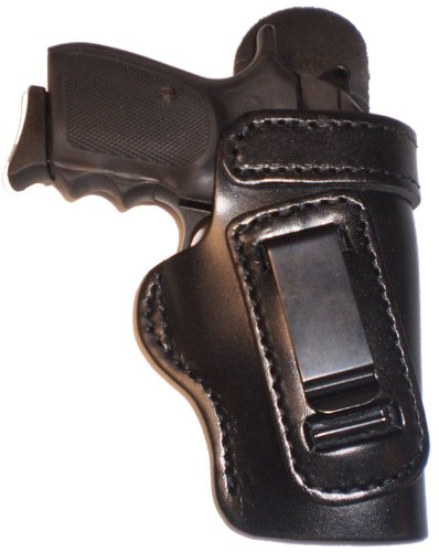 Smith and Wesson J Frame 2 inch Revolvers Heavy Duty Black Right Hand Inside The Waistband Concealed Carry Gun Holster With Forward Cant and Slide Guard Bodyshield