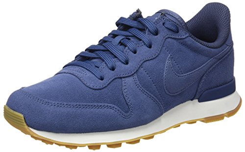 Nike Women's W Internationalist Se Running Shoes, Pink Blue (Diffused Blue/Diffused Blue-thunder Blue 403)