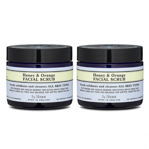 2x Neal's Yard Remedies Honey & Orange Facial Scrub 75g X2=150g Cleanser by Neal's Yard Remedies
