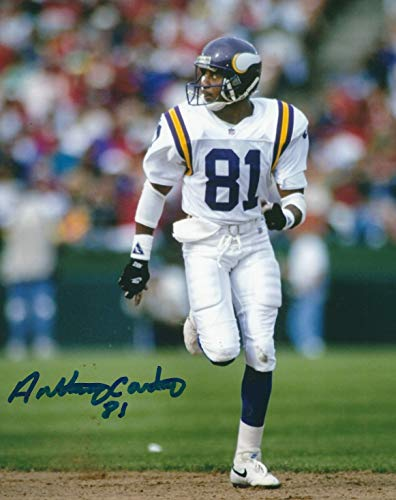 Anthony Carter Minnesota Vikings - Autographed Anthony Carter 8x10 Minnesota Vikings Photo
