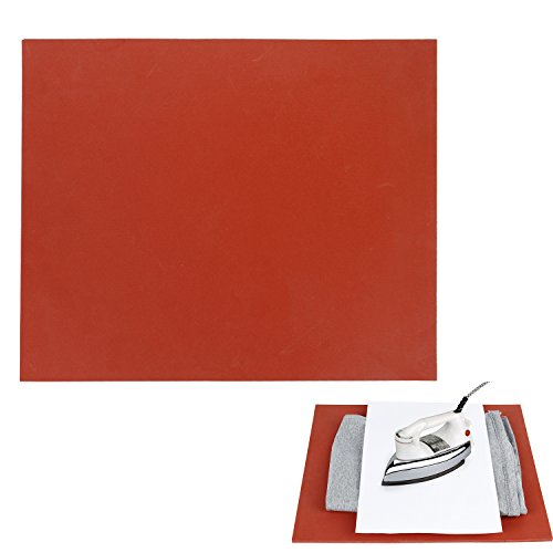 "RUSPEPA 12"" ×15"" Silicone Pad, Flat Heat Press Replacement(Red)"