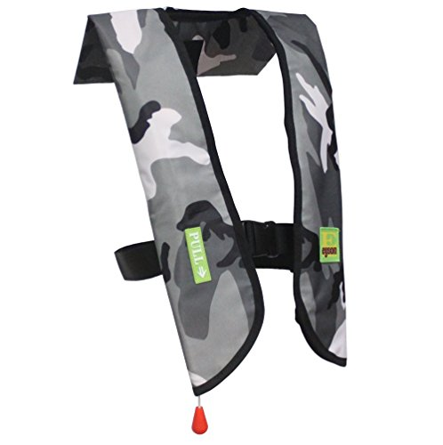 Eyson Inflatable Life Jacket Inflatable Life Vest for Adult Classic Manual (709 White Camouflage)