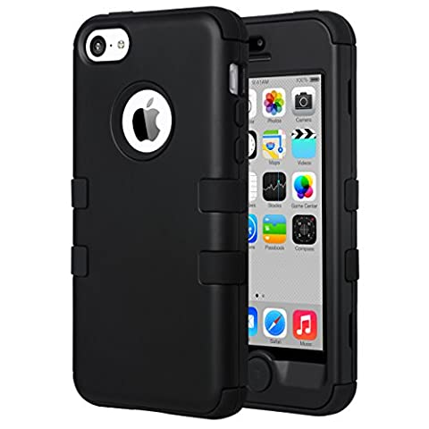 iPhone 5C Case,5C Case,ULAK 3 in 1 PC + Silicone Hybrid Dust Scratch Resistance Anti-slip Protective Cover for Apple iPhone 5C (I Phone 5c Cell Phone)