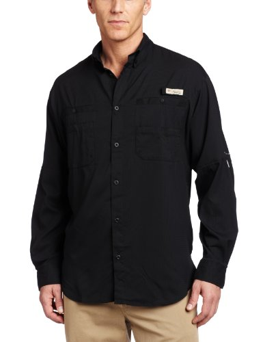 Columbia Men's Plus Tamiami II Long Sleeve Shirt, Black - 3X Tall