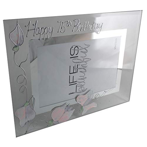 Dreamair 75th Birthday Gift Sweet Pea Photo Frame (Land)