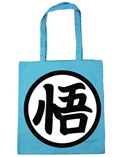 Beach Goku's Blue Shopping litres Surf Bag kanji Tote x38cm Gym 42cm HippoWarehouse 10 wXSqRfOO