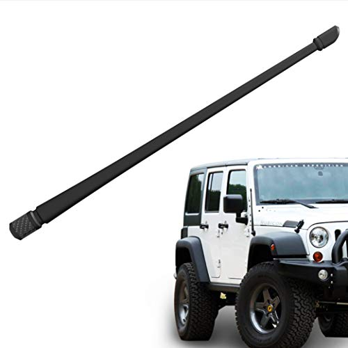 (Rydonair Antenna Compatible with Jeep Wrangler JK JKU JL JLU Rubicon Sahara (2007-2019) | 13 inches Flexible Rubber Antenna Replacement | Designed for Optimized FM/AM Reception)