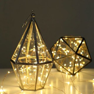 JEBSENS - Starry String Lights - Warm White Color on Copper Wire ...