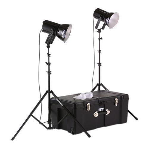 Smith Victor 401460 Photoflood K82 2-Light 500-Watt Ultra Cool Portable Kit ()
