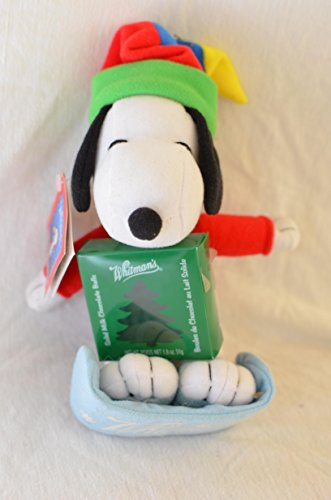 Peanuts Whitmans Snoopy Holding Chocolate Christmas Holiday Winter On Sled 7