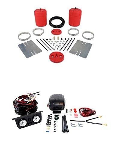 Air Lift 60744/25812 Set of Rear Air Lift 1000 Series w/Load Controller II On-Board Air Compressor System Kit for Lemans/Cutlass/Malibu/Skylark