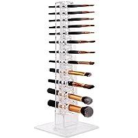 MAKARTT Makeup Brush Holder 12 Spaces Acrylic Clear Separated Individual Makeup Brush Organizer, Organize and dry makeup brush