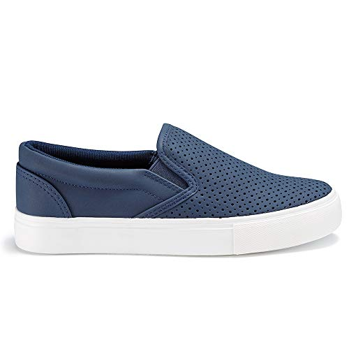 JENN ARDOR Women's Fashion Sneakers Classic Slip on Casual Shoes Comfortable Walking Shoes