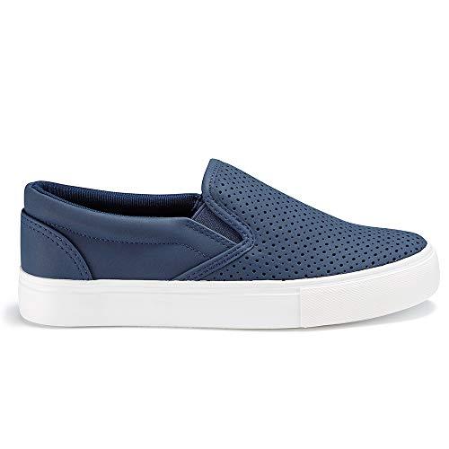 JENN ARDOR Women's Fashion Sneakers Classic Slip on Casual Shoes Comfortable Walking Shoes