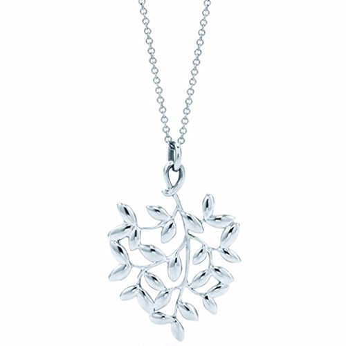 Olive Leaf Pendant Necklace in Sterling - To Please Return Tiffany