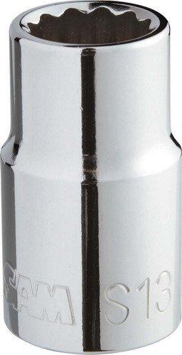 Sam Sockets (Short Socket 1/2-Inch / 12 Teeth 19 mm chromà brillant by SAM Outillage)