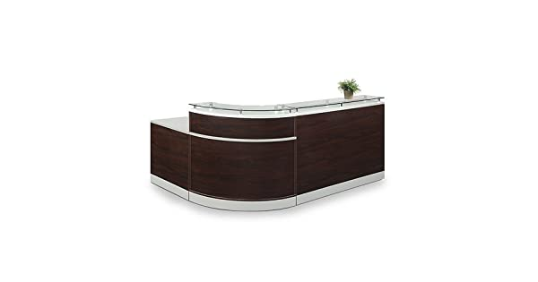 Amazon.com: Esquire parte superior de vidrio Mostrador de ...
